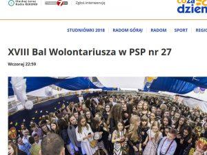 """Bal Wolontariusza w""""CoZaDzień.pl"""""""