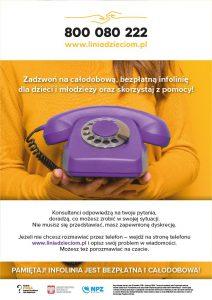 Bezpłatna infolinia dla dzieci, młodzieży, rodziców ipedagogów
