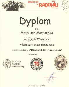 RADOMSKI CZERWIEC 76 – KONKURS